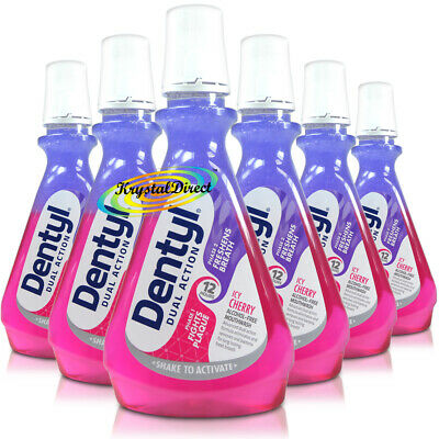 6x Dentyl Active Alcohol Free Mouthwash Icy Cherry Rinse 500ml Complete Care