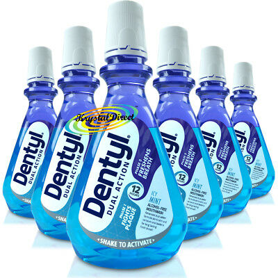 6x Dentyl Active Alcohol Free Mouthwash Icy Fresh Mint Rinse 500ml Complete Care