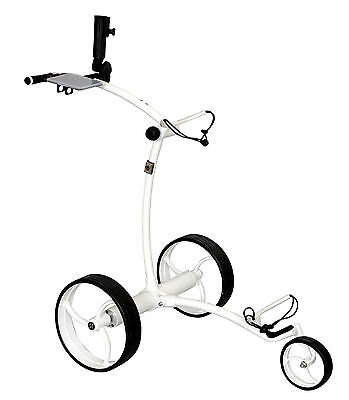 Tour Made RT-630LI Quickfold Lithium Elektro Golftrolley Caddy Weiss / Weiss PB