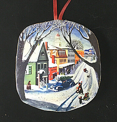 Nostalgic Main Street Wooden Christmas Ornament Neighbor Hostess Parent Gift