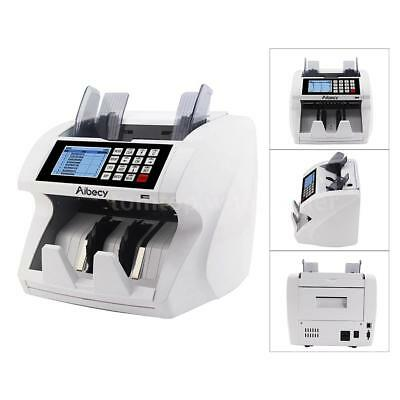 LCD Money Bill Currency Counter UV MG IR Counterfeit Detector Mix Cash Counting