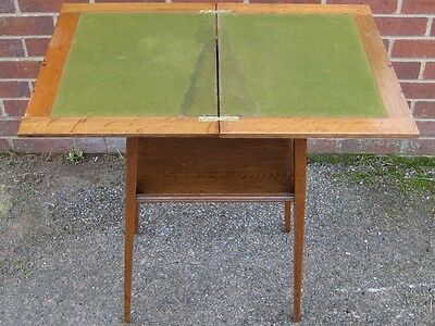 Victorian antique Arts & Crafts solid quarter sawn oak folding card games table