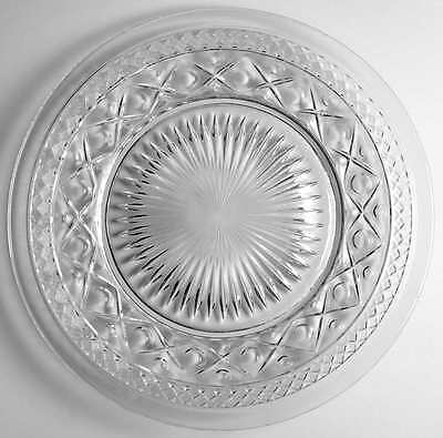 Imperial Glass Ohio CAPE COD CLEAR (#1602 & #160) Dinner Plate 236457