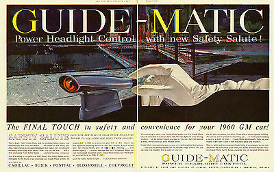 1959 vintage auto ad, GUIDE-MATIC, Headlight Control for 1960 GM Cars-  072813