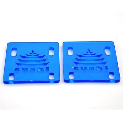 "Sushi Skateboard Skate Riser Pads Clear Blue - 1/8"" FREE & FAST SHIPPING"