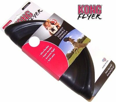 Kong Flyer Frisbee Original, Extreme Dog Puppy Flexible Rubber Fetch Toy