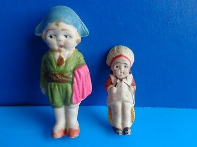 Vintage Small Bisque Dolls- Indian & Pirate- Japan