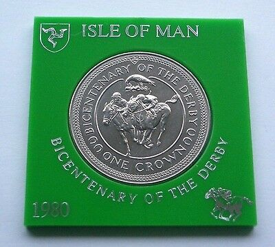 1980 Bicentenary Of The Derby Crown - Isle Of Man Coin In Presentation Mount