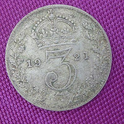 1921 George V 'Silver' Threepenny Piece Reasonable Condition Ref 192