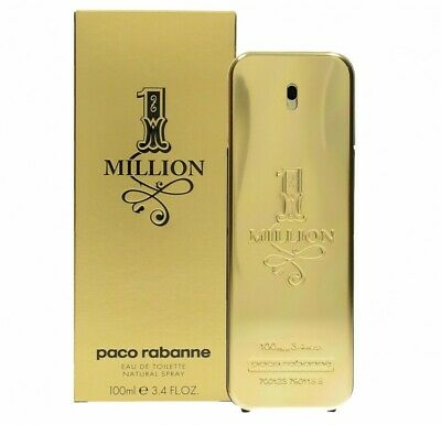 Paco Rabanne 1 Million Eau De Toilette Edt 100Ml Spray - Men's For Him. New
