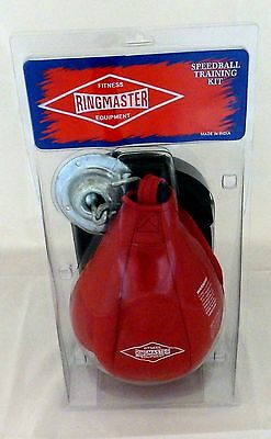 Ringmaster Speedball Kit Ball, Mitts & Swivel Attachment Boxing Practice Skill