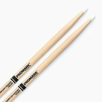 Promark American Hickory Nylon Tip Drumsticks - 2B, 5A, 5B & 7A Available