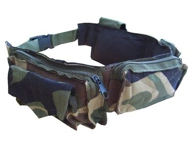 Army Combat Military Utility Belt  Waist Travel Bum Bag Day Cargo Pack Camo DPM