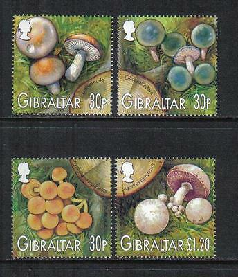 Gibraltar 2003 Local Mushrooms--Attractive Topical (950-53) MNH