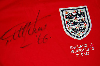 1966 World Cup Final England Shirt Signed By Geoff Hurst
