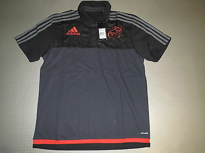 Polo Shirt Munster Rugby 15/16 Orig adidas Sz. S L XL new Red Army