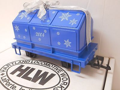 Hartland Locomotive Works HLW 2004 Christmas Mini Covered Coil Car G Scale