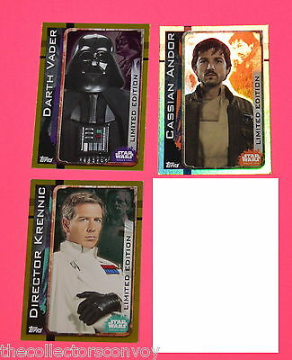 Topps STAR WARS Rogue One UK Trading Card 3x **DEFECT* LIMITED EDTION cards