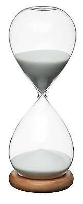 Masterclass Large 30 Minute White Sand Traditional Hour Glass Egg Kitchen Timer