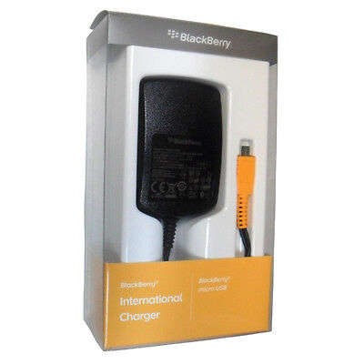 OEM NEW BlackBerry Z30 MicroUSB 2Amp International Travel Wall Charger w 4 plugs