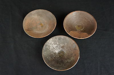 Vintage chinese Yixing clay trays, lot of 3 [Y8-W6-A9]