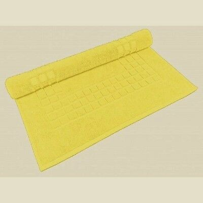 BRIGHT YELLOW 100% EGYPTIAN COTTON 700GSM SUPREME BATH MAT 50cm x 80cm APPROX