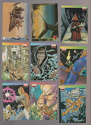 Lot of 9 Star Wars Galaxy trading cards Pub. 1994 Topps Steve Ditko Theakston
