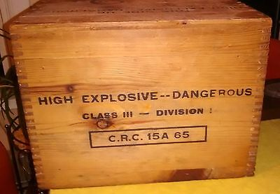Vintage Forcite Crate High Explosives  Box  Nice Dovetail Piece