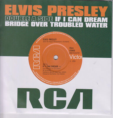 Presley, Elvis - If I Can Dream / Bridge Over Troubled Water 7 Inch Vinyl Single