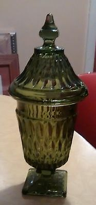 Indiana Glass Mount Vernon Lidded Green Candy