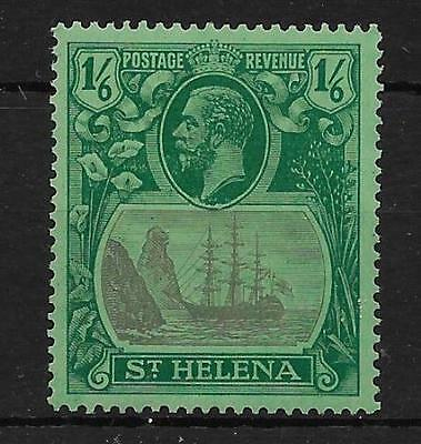 ST.HELENA SG107c 1927 1/6 GREY & GREEN ON GREEN CLEFT ROCK MTD MINT