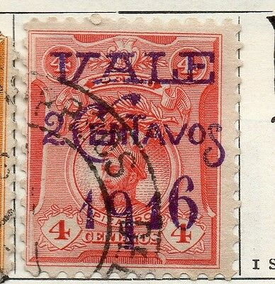 Peru 1916 Early Issue Fine Used 2c. Surcharged Optd 128661