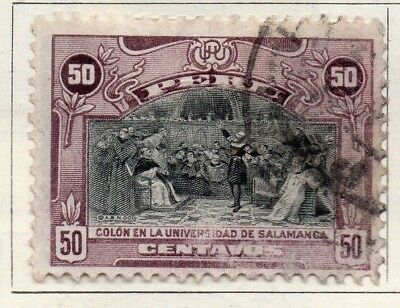 Peru 1918 Early Issue Fine Used 50c. 128677