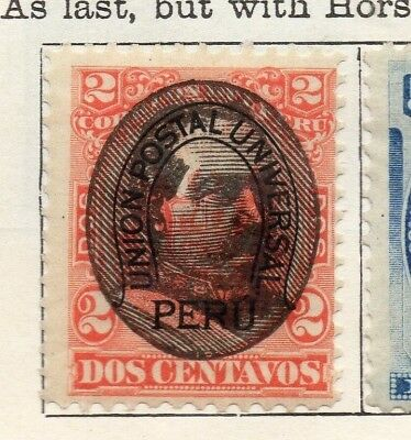 Peru 1894 Early Issue Fine Mint Hinged 2c. Optd 128696