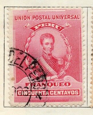 Peru 1896 Early Issue Fine Used 50c. 128713