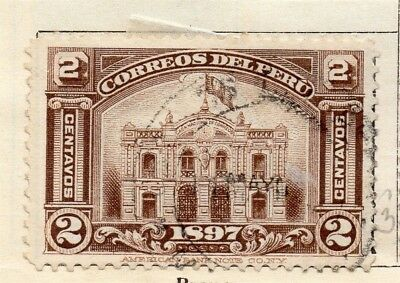 Peru 1898 Early Issue Fine Used 2c. 128717