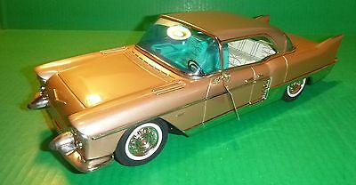 "MARUSAN Tin Friction 1957 Cadillac Eldorado 15"" Beige With Original Box"