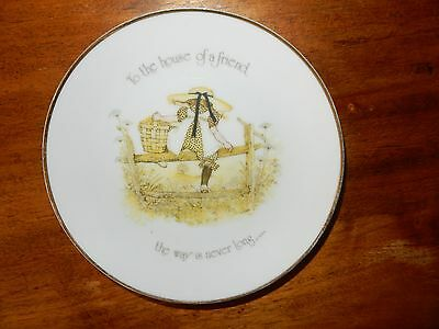 Vintage Holly Hobbie To The House Of A Friend the way is never long PLATE