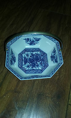 Marks And Spencer  (1988) Bone China Blue/white Dish With Handle Made In Japan