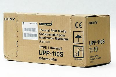NEW GENUINE SONY THERMAL PRINT ULTRASOUND MEDIA PAPER 10-PACK UPP-110S 110MMx20M
