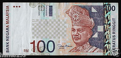 MALAYSIA (P44d) 100 Ringgit ND(2001) VF/VF+