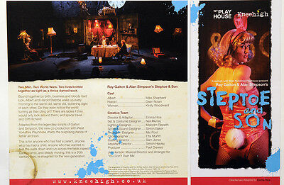2 X Steptoe And Son Theatre Flyers - West Yorkshire Playhouse - Kneehigh