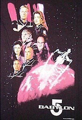 Babylon 5 Second Season Main Cast and Ship T-Shirt Size MEDIUM, NEW UNWORN
