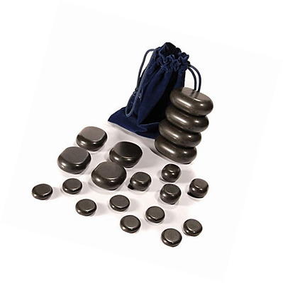 TAOline Hot Stone Set 20 Basalt Massage Stones, Starter Set