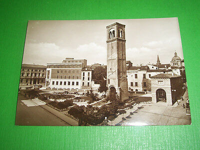 Cartolina Mantova - Via Francesco Crispi - Torre di S. Domenico 1940