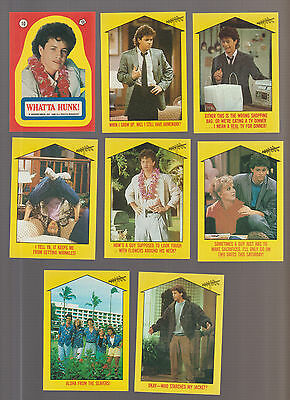Lot of 8 Growing Pains TV show trading cards, Kirk Cameron, Pub. 1988