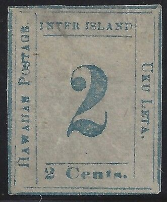 Hawaii #13 Light Blue On Bluish Paper With Pf Certificate Catalog $6,250.00