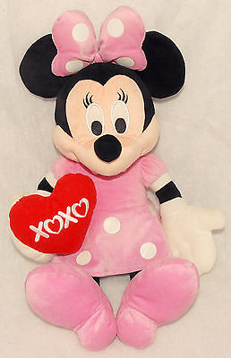 "Disney - 18"" - Minnie Mouse Plush Stuffed Toy w/ Cute XOXO Heart Valentine's Day"