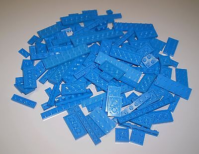Used LEGO Blue Plates 100 Pieces