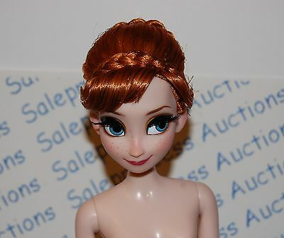 """NEW Disney Store Limited Edition Frozen Fever Anna 17"""" Nude Doll Only Loose OOAK"""